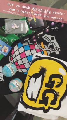 Look at all that SWAG from the Fortnite After Party!